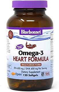 BlueBonnet Nutrition Omega-3 Heart Formula Softgels, 120 Count