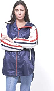 Women's Long Satin Twill Jacket with Hood