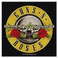 GUNS N ROSES ガンズアンドローゼズ (デビュー35周年記念) - BULLET LOGO/ワッペン 【公式/オフィシャル】