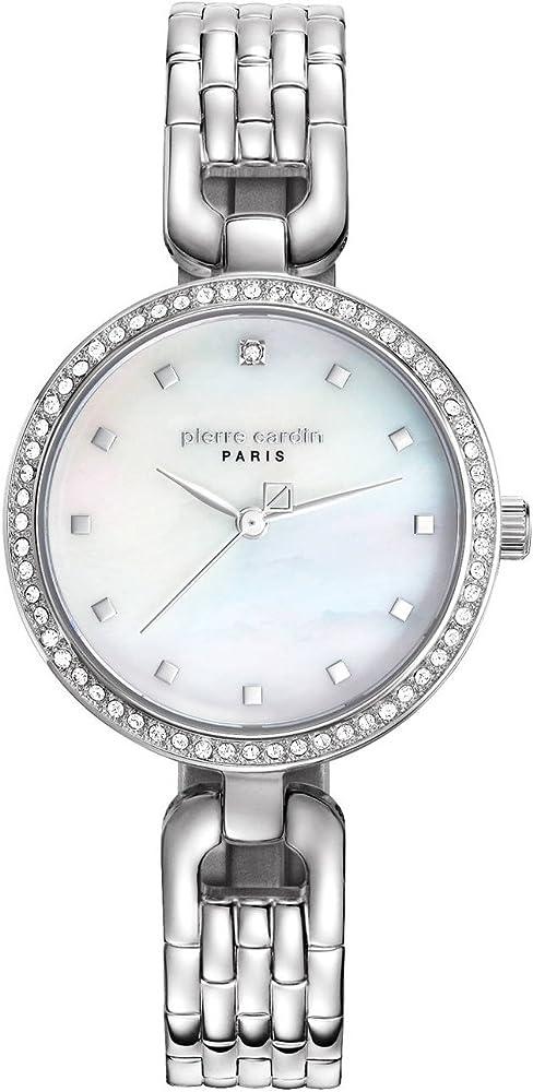 Pierre cardin,orologio da donna ,in acciaio inossidabile PC108172F04