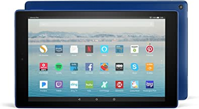 """Certified Refurbished Fire HD 10 Tablet with Alexa Hands-Free, 10.1"""" 1080p Full HD Display, 32 GB, Marine Blue - with Spec..."""