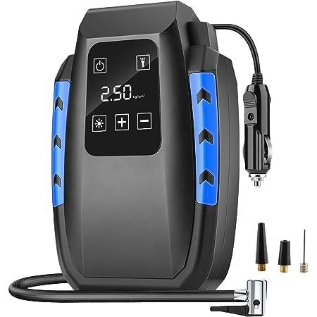 Diza100 Luftkompressor Auto Luftpumpe 150psi 12v Reifen Inflator Autoreifen Kompressor Digital Tragbare Kompressor Mit Touch Taste Notbeleuchtung Und Langem Kabel Auto