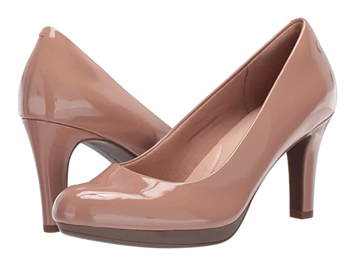 Clarks  Adriel Viola (Praline Synthetic Patent) High Heels