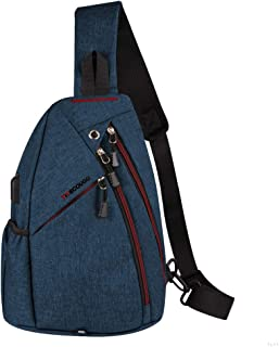 Sling Bag Tactile and Tough Travel Shoulder Bags with USB Charge Port