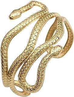 Chic Egypt Cleopatra Swirl Snake Arm Cuff Armlet Armband Open Bangle Bracelet