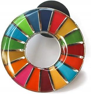 SDGs ピンバッジ 国連 バッチ バッジ (丸み仕上げ(2個))