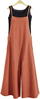 Women Casual Loose Long Bib Pants Wide Leg Jumpsuits...