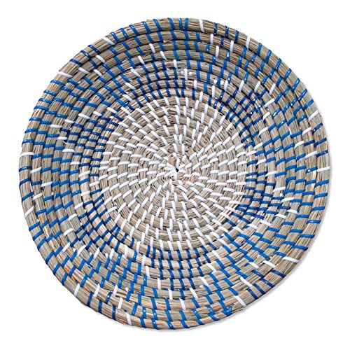 Chicnchill Small Woven Basket – Handcrafted Fruit Basket – Rustic Boho Wall Hanging – Rattan Wall Decor Basket – Table Trays Decorative Accessories- Key Bowl for Entryway Table - (014-13.8 in)