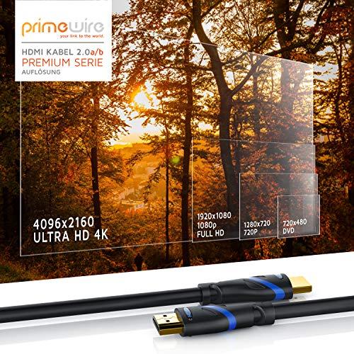 CSL - 1,5m HDMI Kabel 2.0a 2.0b - Ultra HD 4k 60Hz - neuester Standard - High Speed HDMI 2.0 - Ultra HD Full HD 1080p - 3D ARC CEC HDCP HDR - 3-Fach geschirmt - bis zu 18 Gbit s - schwarz