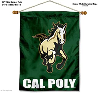 Cal Poly Mustangs Banner with Hanging Pole