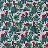 Prestige P0760 Aloha Hawaiian Papageien Vögel Blumenmuster