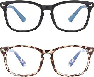 2paquetes Gafas de Filtro de Luz Azul Lentes Antireflejantes Mujer y Hombres Lentes de Computadora para Anti Tensión de Oj...