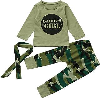 7324d22c7ca25 Kangrunmy Ensemble Bebe Fille Hiver Automne VêTements 3Pcs Lettre Imprimé  Tops T Shirt à Manches Longues