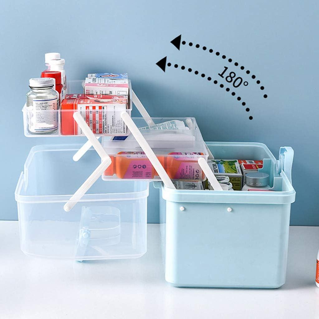 VEED Inicio Medicina de Gran Capacidad Caja de Farmacia Caja de Almacenamiento Multifuncional de 3 Niveles