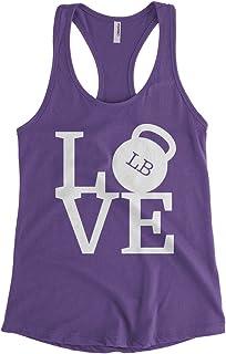Women's Love Weights Workout Gym Racerback Tank Top