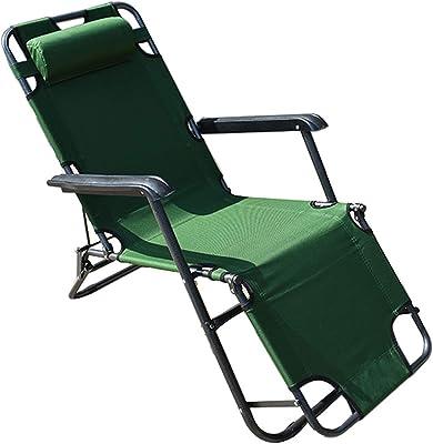 labworkauto Portable Lounge Chairs Folding Reclining Chairs Sun Patio Chaise Chair Pool Lawn (ArmyGreen)