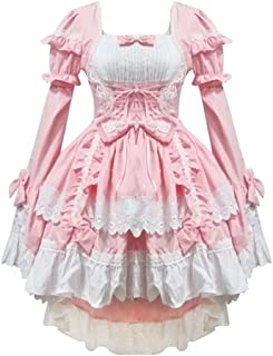 Pink Lolita Dress Princess Lolita Dress Maid Dress Costume Halloween Costume for Women