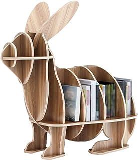 Étagère Enfant Livres Bibliothèque Pour Enfants, Petite Bibliothèque Créative De Lapin En Bois, Support Créatif Pour La Ma...