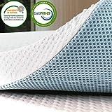 subrtex 5 cm colchón Topper 90x190, colchón de Espuma viscoelástica Transpirable con Funda de bambú extraíble y Lavable (5 cm, 180×200)