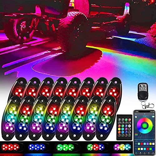 icicar Rock Lights RGB LED Rock Lights...