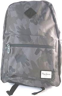 Mochila 'Pepe Jeans'camuflaje gris - 40x34x13 cm.