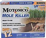 10. Motomco 008-34310 198880 Mole Killer Ready to Use Bonus, 12 Worm Box