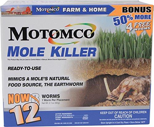Motomco 008-34310 198880 Mole Killer Ready to Use Bonus, 12 Worm Box
