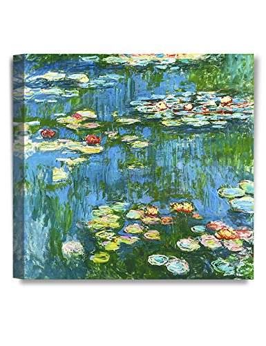 DECORARTS - Water Lily Pond 1914, Claude Monet Art Reproduction. Giclee Canvas Prints Wall Art for Home Decor 20x20