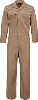 Deluxe Long Sleeve Cotton Blend Coverall with Multi Pockets and Antistatic Zipper
