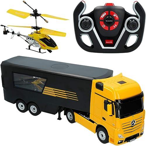 Ven a elegir tu propio estilo deportivo. RASTAR- Camión radiocontrol radiocontrol radiocontrol Mercedes Benz y helicóptero, escala 1 26, Color amarillo (ColorBaby 85338)  buscando agente de ventas