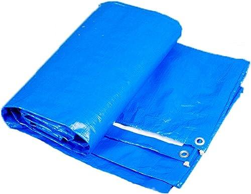 AJZGF Tissu imperméable à l'eau imperméable Bache, bache imperméable de Camping de bache, Isolation Solaire de Cargaison Anti-vieillissement, Bleu