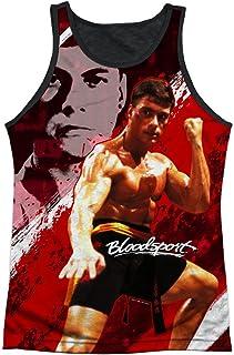 Bloodsport Action Sports Film Van Damme Image Adult Black Back Tank Top Shirt