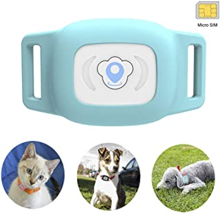 BARTUN Mini Pet Tracker GPS Locator for Dogs Cats 28lb Waterproof IP67 Real Time Activity Monitor AGPS LBS SMS Positioning Tracking Device with Collar Included SIM Card