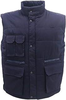 Mens Casual Outdoor Photography Vest Waistcoats Coat Hunting Travels Sports Gilet Waistcoat Jacket (Color : Dark blue, Siz...