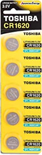Toshiba CR1620 3V Lithium Coin Cell Battery Pack of 5 batteries Expiry date 2024