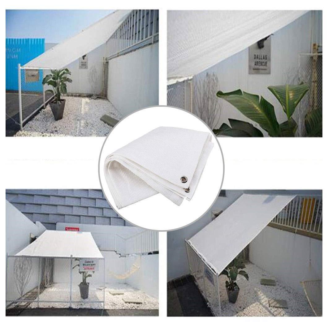 Toldo Vela Toldo Vela Outdoor Garden Patio Party Vela de Sombra Blanca 98% UV Sunscreen Toldo Crema Cuadrada Con Cuerda Libre para Cubierta Pérgola Toldo Protección Plantas Cubierta Automóvil Sombra M: Amazon.es: