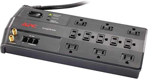 APC Surge Protector with Telephone, DSL and Coaxial Protection, P11VT3, 3020 Joules, 11 Outlet Surge Protector Power ...