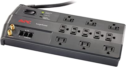 APC 11-Outlet Surge Protector 3020 Joules with Telephone, DSL and Coaxial Protection, SurgeArrest Performance (P11VT3)