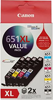 Canon CLI651XLVP Value Pack (1 x CLI651XLC/M/Y/BK)