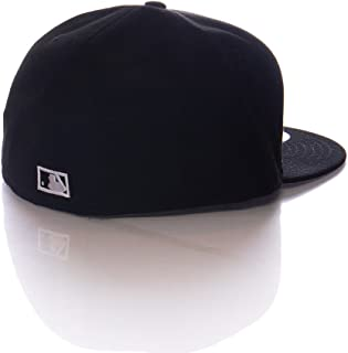 New Era 59Fifty Hat MLB Miami Florida Marlins Cooperstown F Fitted Black Cap