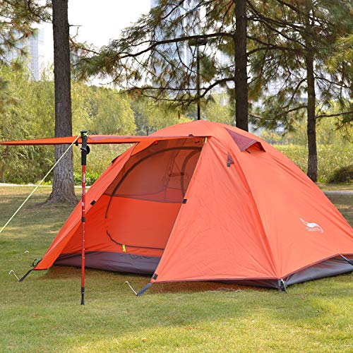 Hiking DESERT /& FOX Backpacking Camping Tent Lightweight 1-3 Person Double Layer Waterproof Portable Travel Tents for Camping