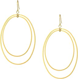 Kenneth Jay Lane - Polished Gold Double Open Teardrop Shape 3