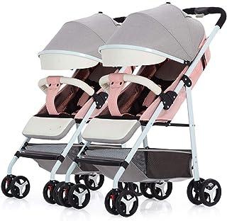 Baby Stroller, Baby Car,Travel Double Stroller Detachable Ultra Light Portable Folding Stroller with Mosquito (Color : E)