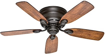 Hunter Indoor Low Profile IV Ceiling Fan, with pull chain control - 42 inch, New Bronze, 51061