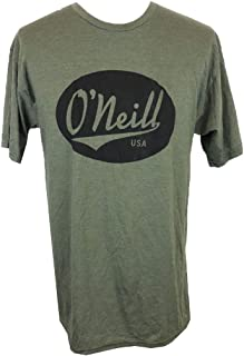 Men's Military Green Crew Neck Graphic T-Shirt