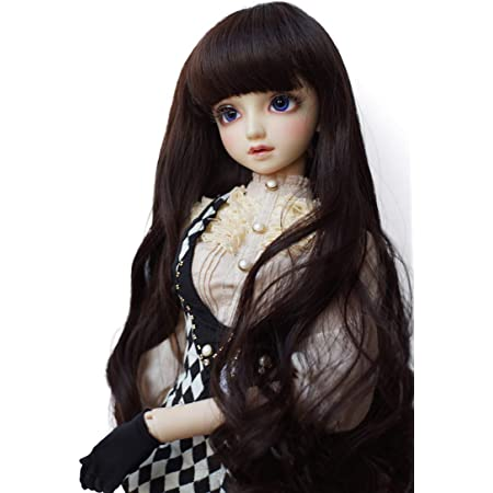 BJD Doll Hair Wig 9-10 inch 22-24cm White Central Parting 1//3 SD DZ DOD LUTS