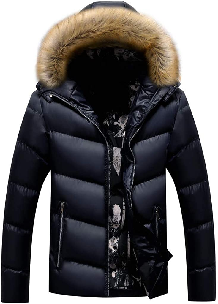 HebeTop Popular shop is the lowest price challenge Men's Purchase Water-Resistant Hooded Insulated Thickened Quilted