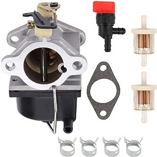 POEMQ Carburetor Replace Tecumseh 640065A 640065 Fits OHV110 OHV115 OHV120 OHV125 OHV130 OHV135 Engine with Gasket Fuel Filter Shut Off Valve Clamps