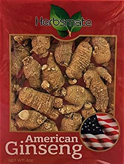 Sponsored Ad - Hand-Selected A Grade American Ginseng Medium Round Size (4 Oz. Box)