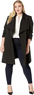 crepe open front coat ralph lauren
